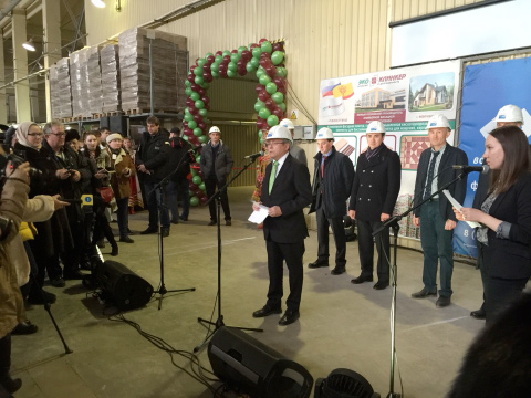 Opening of the Ekoklinker plant in Russia